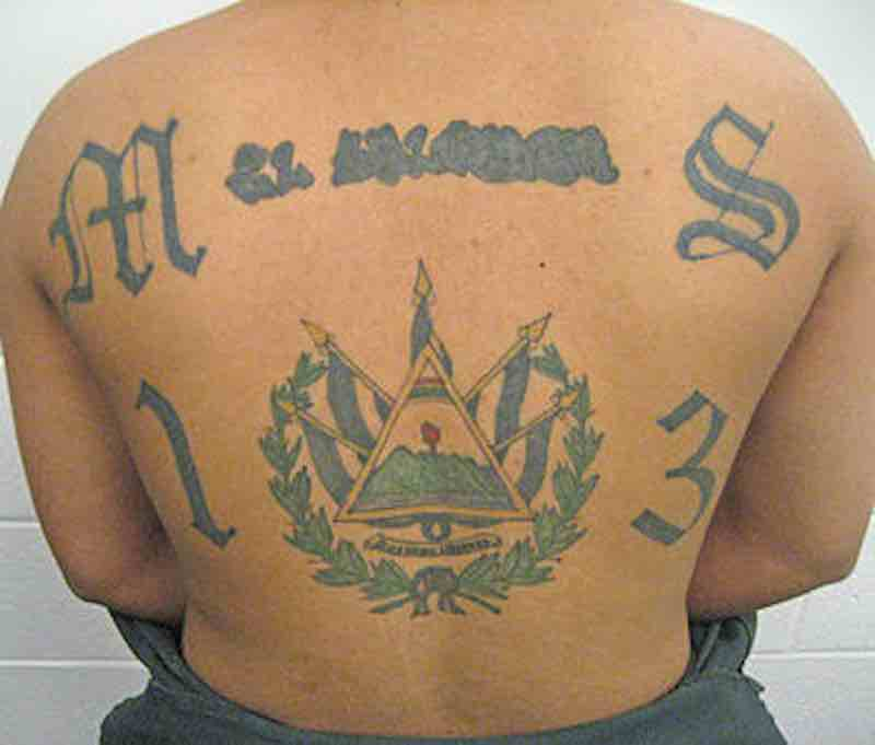 English: Mara Salvatrucha tattoo. (Photo credit: Wikipedia)