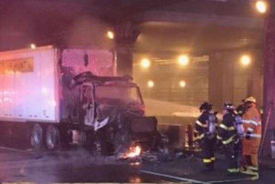 Truck fire on George Washington Bridge snarls traffic for hours