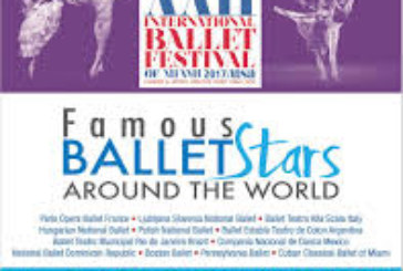 XXII International Ballet Festival of Miami will be performing today in Union City