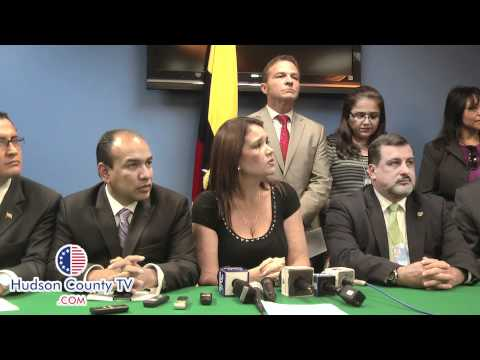 Consul of Ecuador Jessica Escala Press Conference on President Rafael Correa visit to Union City