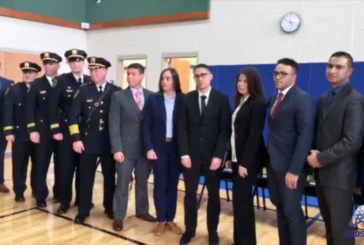 Union City Police swear in 10 new cops and another 10 recruits