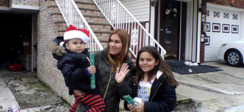 Santa Visits Guttenberg for the Town's Annual Santa Parade