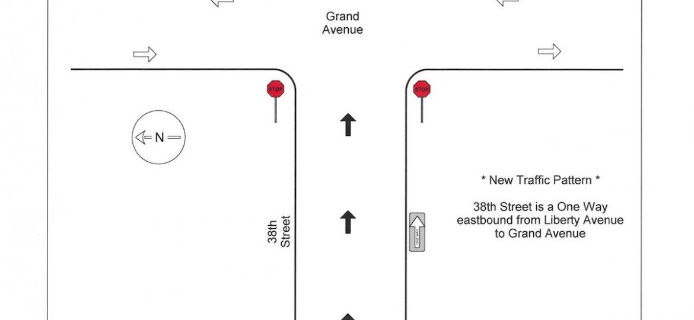 Traffic Pattern Change 38th 40th St - MAPS
