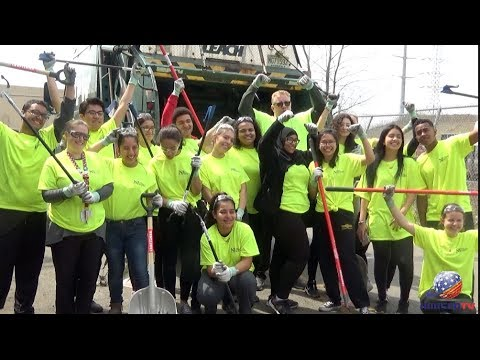 Concerned students clean their community: North Bergen High School Environmental Club