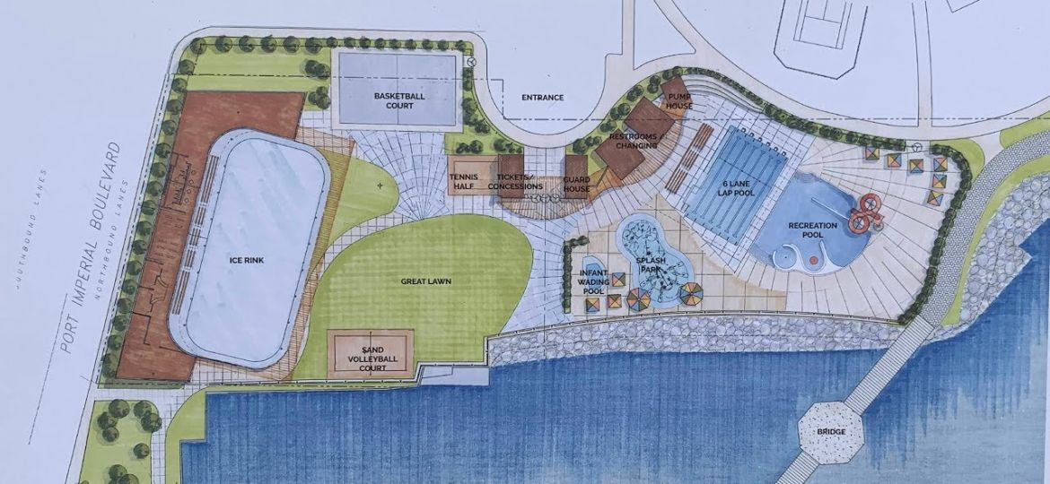 Ice Rink and Several Pools To Be Built in Weehawken's Brand New Park