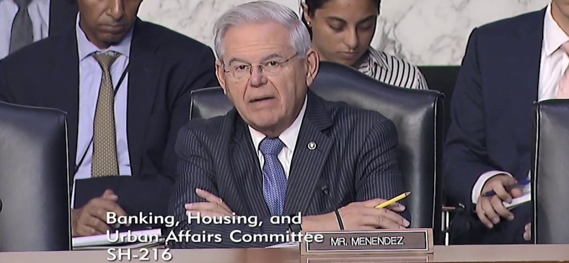 Menendez Warns of Potential Dangers of Facebook's Proposed Cryptocurrency